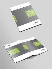 大气绿色企业画册封面设计模板