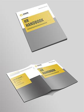 黄色简洁大气画册封面设计