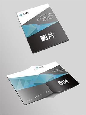 企业蓝色大气画册封面设计模板