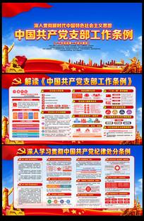 一图读懂中国共产党支部工作条例展板