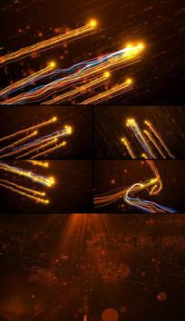 震撼大气粒子光线片头视频模板