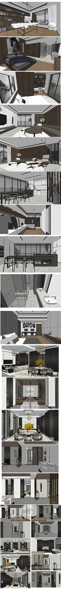 现代家居设计模型