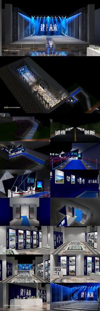 原创企业活动舞美设计走廊设计效果图