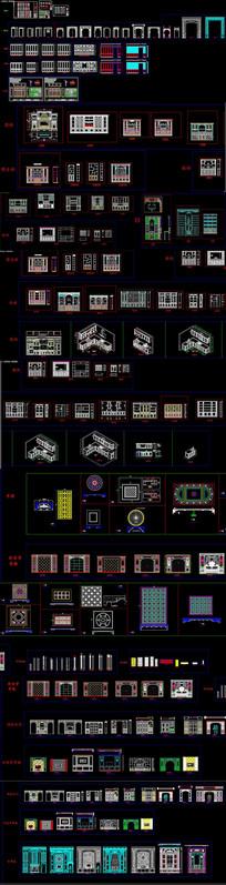 整木定制产品模块CAD图库