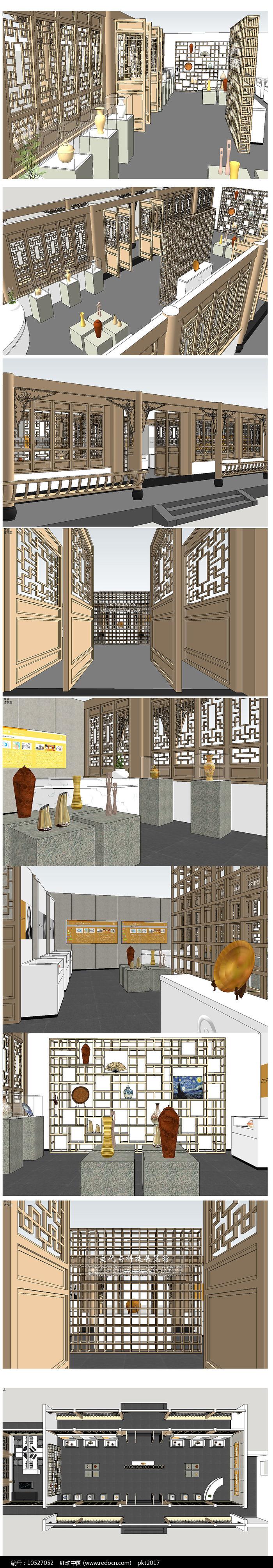 中式展厅展览馆 图片