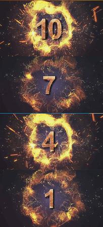 火焰粒子年会开场视频素材