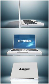 简洁笔记本演绎logo视频模板