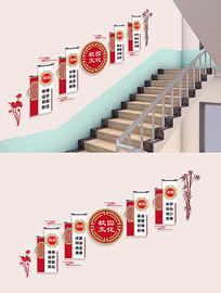 校园校风校训楼梯走廊文化墙