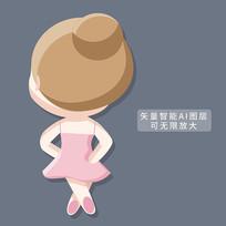 跳芭蕾舞的女孩图片
