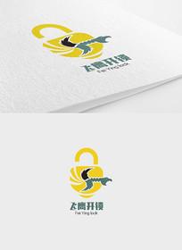 飞鹰开锁logo设计