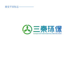 三秦环保科技公司LOGO设计 AI