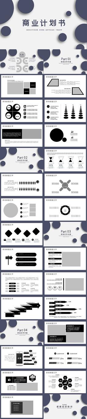 实用商业计划书PPT模板