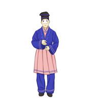 手绘创意京剧戏剧小丑人物插画元素