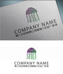水母LOGO标志设计