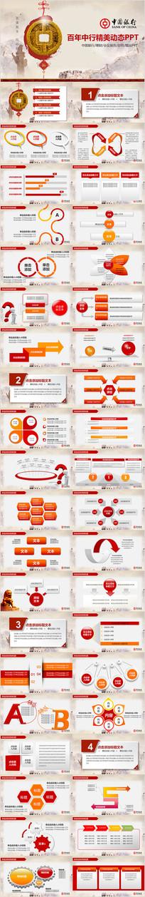 百年中行中国银行总结报告PPT模板