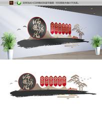 大气创意师德师风学校文化墙