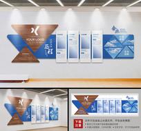 高端企业文化墙照片墙员工文化墙前台形象墙