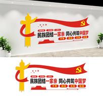 民族团结宣传文化墙