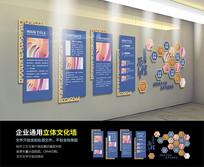 企业发展历程大型立体文化墙