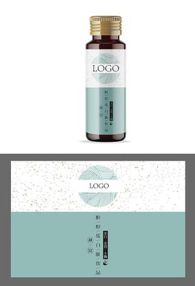 燕窝口服液标贴设计
