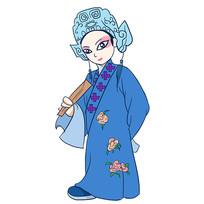 原创手绘京剧戏剧人物插画