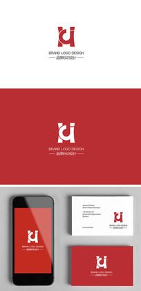 HJ字母组合鼎电器企业标志logo设计