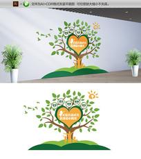 创意关注儿童成长爱心公益校园文化墙