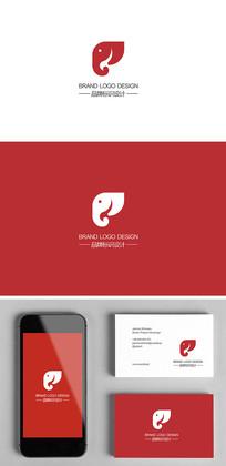 创意家居日用品大象标志logo设计
