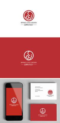 创意母婴家居产品大象标志logo设计