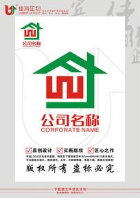 建筑工程物业标志LOGO设计