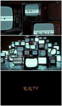 故障电视片头logo视频模板