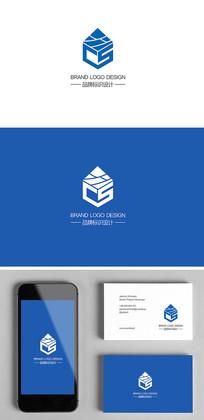 建筑工程墙材企业logo标志设计