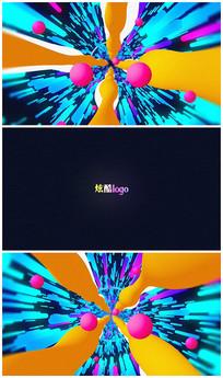 炫酷穿梭logo视频模板