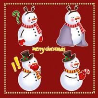 -原创元素圣诞搞怪雪人表情包