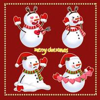 原创元素圣诞可爱雪人表情包