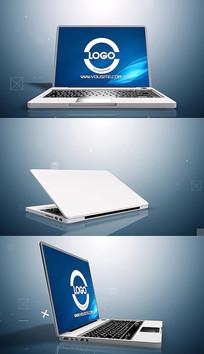 3d笔记本电脑简短标志片头pr模板