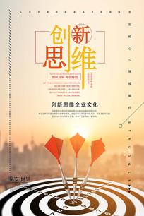 创新思维企业文化创意海报