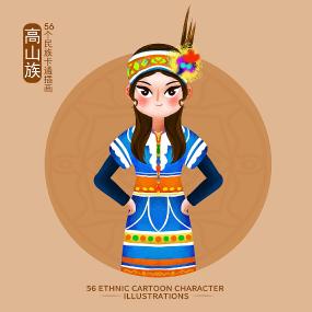 原创56个民族服饰图片-高山族 PSD
