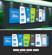 简约蓝色科技办公形象墙企业文化墙