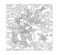 CAD龍紋雕塑圖案浮雕
