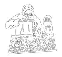CAD人物素材纹样民俗文化线稿图