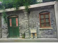 创意民国老镇建筑立面设计 JPG