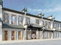 新中式商业街建筑外观设计
