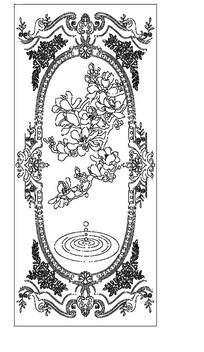欧式雕花花纹元素CAD