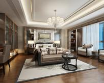 新中式 卧室设计模型
