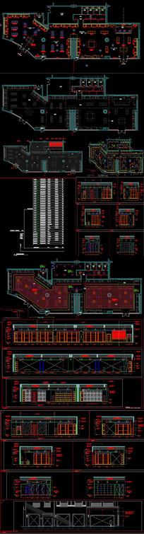 英国某奢侈品牌店铺设计CAD施工图