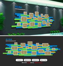 大气时尚企业文化墙创意照片墙