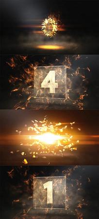 大气震撼华丽年会开场倒计时5秒视频模板