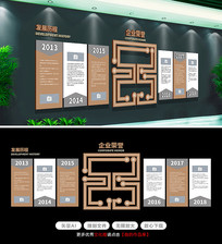 高端淡雅企业文化墙发展历程荣誉墙