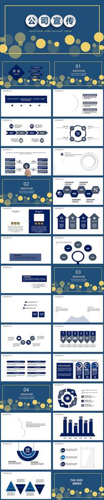 蓝色企业公司宣传PPT模板